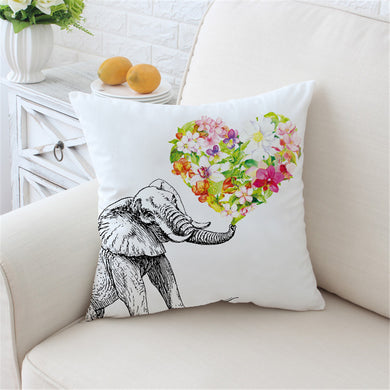 Love Heart Elephant Cushion Cover - My Diva Baby