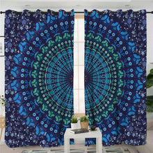 Shades of Blue Mandala Curtains - My Diva Baby