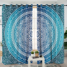 Boho Blue Mandala Curtains - My Diva Baby