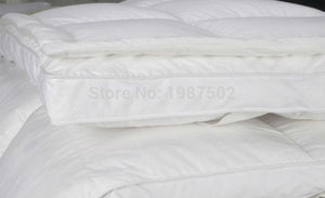 Luxurious White Duck Down & Goose Feather Double Layer Mattress Topper 100% Cotton 233TC - My Diva Baby