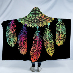 Rainbow Mandala Dreamcatcher Hooded Blanket - 2 Sizes - My Diva Baby