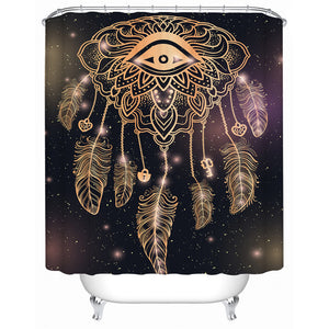 Golden Eye Dreamcatcher Shower Curtain - Waterproof
