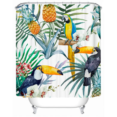 Tropical Toucan Shower Curtain - Waterproof - My Diva Baby