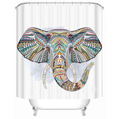Bohemian Elephant Shower Curtain - Waterproof - My Diva Baby