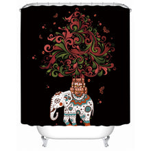 Indian Boho Elephant Shower Curtain - Waterproof