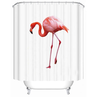 Pink Flamingo Shower Curtain - Waterproof - My Diva Baby
