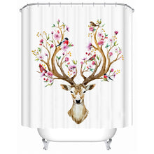 Floral Elk Shower Curtain - Waterproof - My Diva Baby