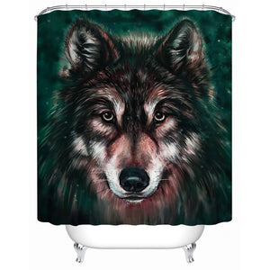 Wolf 3D Shower Curtain - Waterproof - My Diva Baby