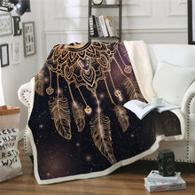 Golden Eye Dreamcatcher Sherpa Throw Blanket - My Diva Baby
