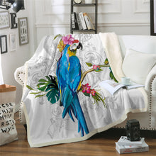 Macaw Sherpa Throw Blanket - My Diva Baby