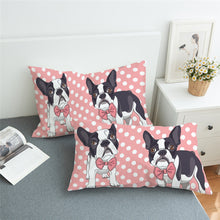 Pink Bow Tie French Bulldog Pillowcase 2pcs - My Diva Baby