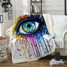 Rainbow Fire by Pixie Cold Art - Charming Eye Sherpa Throw Blanket - My Diva Baby