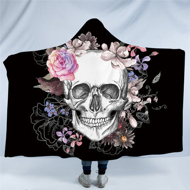 Pink Sugar Skull Hooded Blanket - 2 Sizes - My Diva Baby