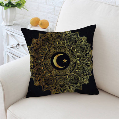 Golden Mandala Moon & Star Cushion Cover - My Diva Baby