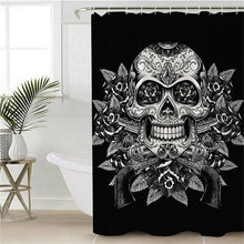Vintage Black & White Sugar Skull Shower Curtain - Waterproof - My Diva Baby