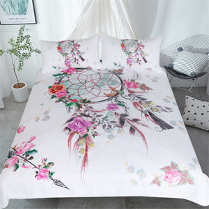 Spring Floral Dreamcatcher Doona Cover 3pc set - My Diva Baby