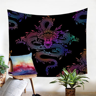 Mythical Chinese Dragon Wall Tapestry - My Diva Baby