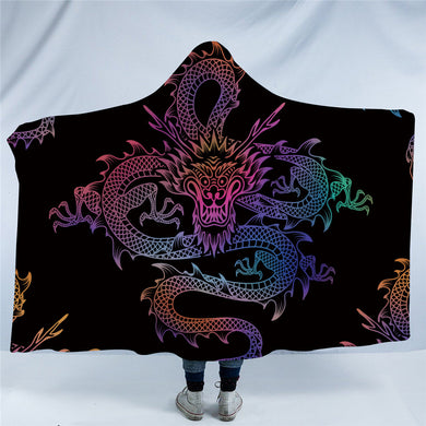Mythical Chinese Dragon Hooded Blanket - 2 Sizes - My Diva Baby