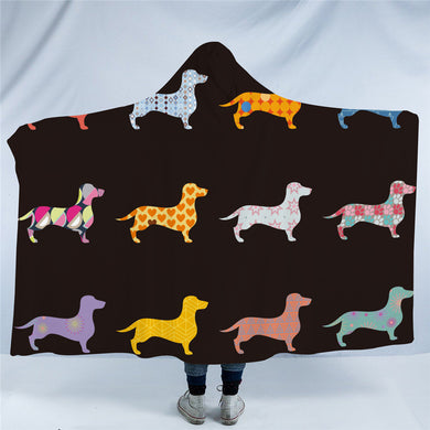 Mini Dachshund Hooded Blanket - 2 Sizes - My Diva Baby