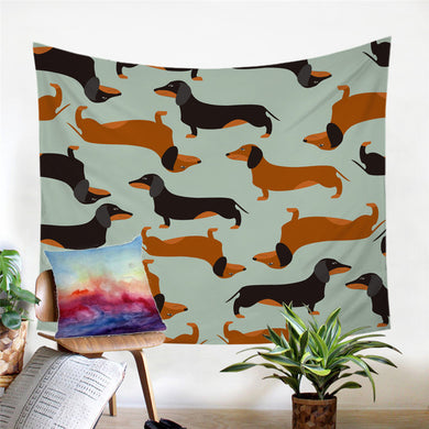 Sausage Dog - Dachshund Wall Tapestry - My Diva Baby