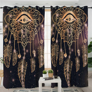 Golden Eye Dreamcatcher Curtains - My Diva Baby