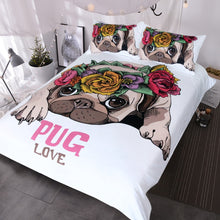 Gimme Pug Love Doona Cover 3pc set - My Diva Baby