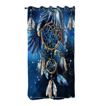 Blue Galaxy Dreamcatcher Curtains - My Diva Baby