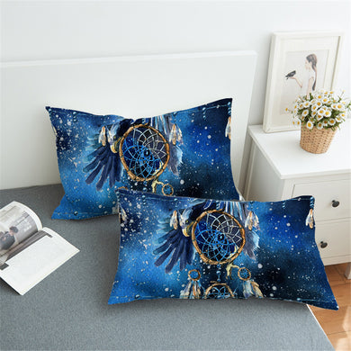 Blue Galaxy Dreamcatcher Pillowcase 2pcs - My Diva Baby