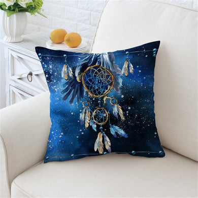 Blue Galaxy Dreamcatcher Cushion Cover - My Diva Baby