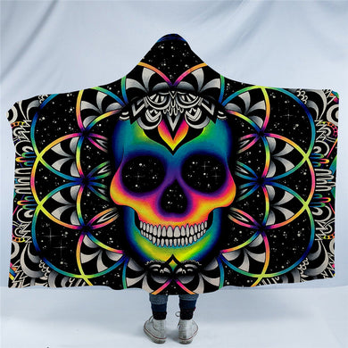 Chaos By Brizbazaar - Chaos Skull Hooded Blanket - 2 Sizes - My Diva Baby