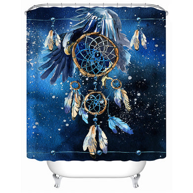 Blue Galaxy Shower Curtain - Waterproof - My Diva Baby