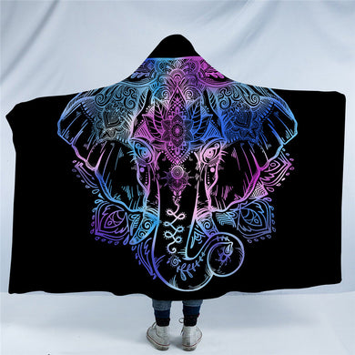 Lotus Elephant Hooded Blanket - 2 sizes - My Diva Baby