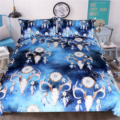 Galaxy Bull Skull Doona Cover 3pc set - My Diva Baby