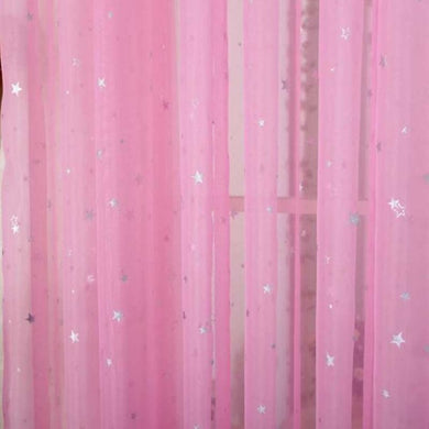 Twinkle Stars - Tulle Curtain - PINK - My Diva Baby
