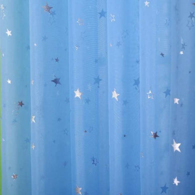 Twinkle Stars - Tulle Curtain - SKY BLUE - My Diva Baby