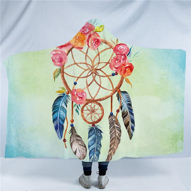 Pastel Dreamcatcher Hooded Blanket - 2 sizes - My Diva Baby