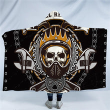 Chain & Tool Skull Hooded Blanket - 2 sizes - My Diva Baby