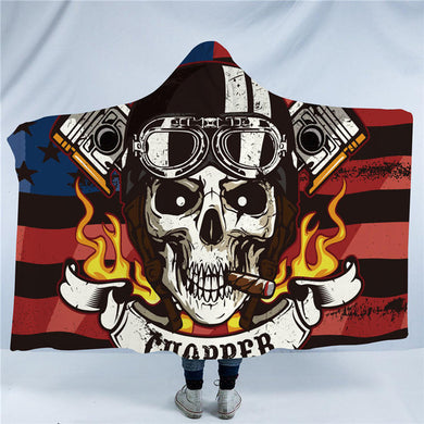 Motor Skull Hooded Blanket - 2 sizes - My Diva Baby