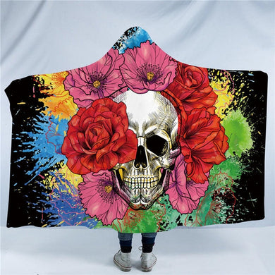 Splashed Skull Hooded Blanket - 2 sizes - My Diva Baby