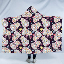 Crazy Sugar Skull Hooded Blanket - 2 sizes - My Diva Baby