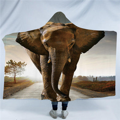 Elephant 3D Hooded Blanket - 2 sizes - My Diva Baby