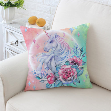 Unicorn & Roses Cushion Cover - My Diva Baby