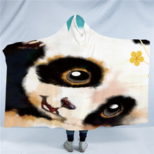 Cute Watercolour Panda Hooded Blanket - 2 sizes