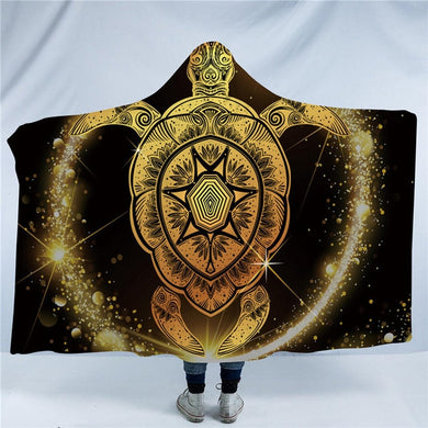Starry Night Turtle Hooded Blanket - 2 sizes - My Diva Baby