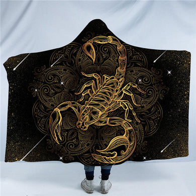 Golden Scorpion Hooded Blanket - 2 sizes - My Diva Baby