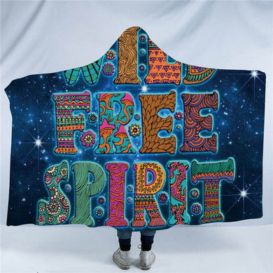 Wild Free Spirit - Blue - Hooded Blanket - 2 sizes - My Diva Baby