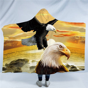 Flying Eagles Hooded Blanket - 2 sizes - My Diva Baby