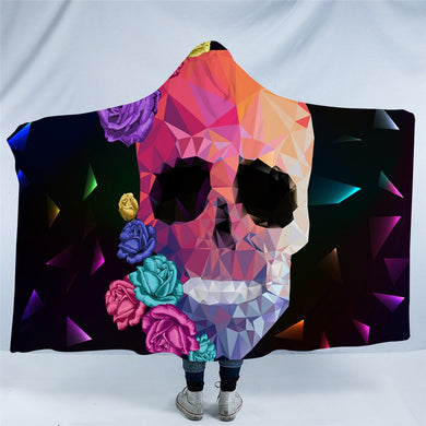 Crystal Skull Hooded Blanket - 2 sizes