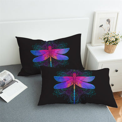 Dragonfly Mandala Pillowcase 2pcs - My Diva Baby