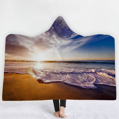 Beach Break Hooded Blanket - 2 sizes - My Diva Baby